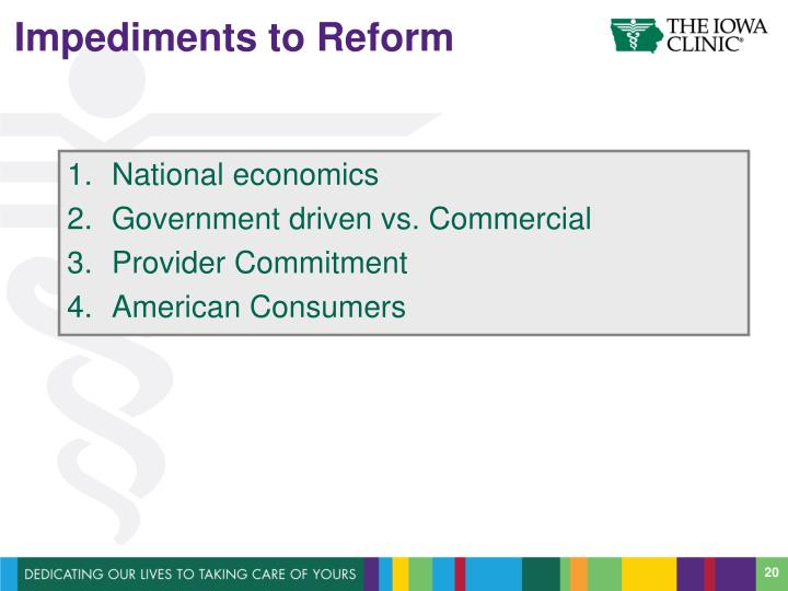 Impediments to Reform