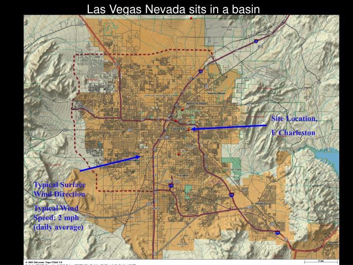 Las Vegas Nevada sits in a basin