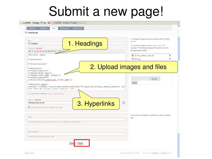 Submit a new page!
