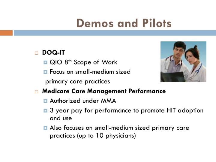 Demos and Pilots