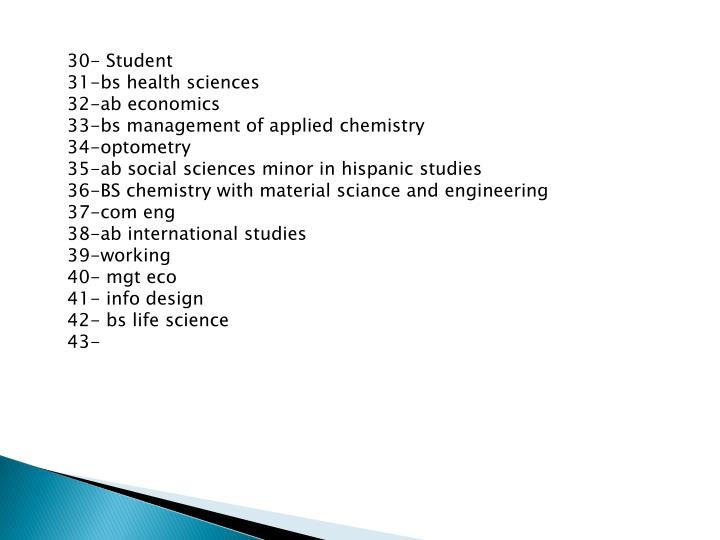 30- Student