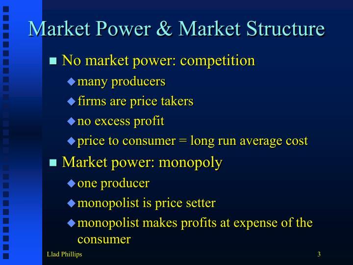 Market Power & Market Structure