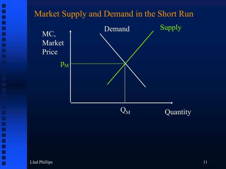 Market Supply and Demand in the Short Run