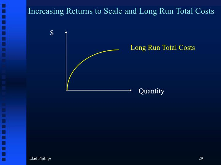 Increasing Returns to Scale and Long Run Total Costs