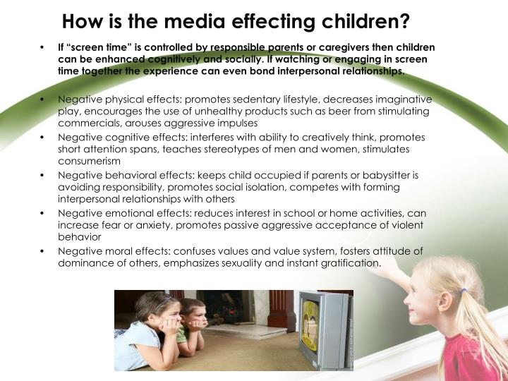 How is the media effecting children?