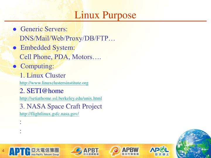 Linux Purpose