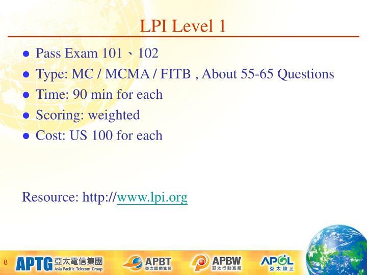 LPI Level 1