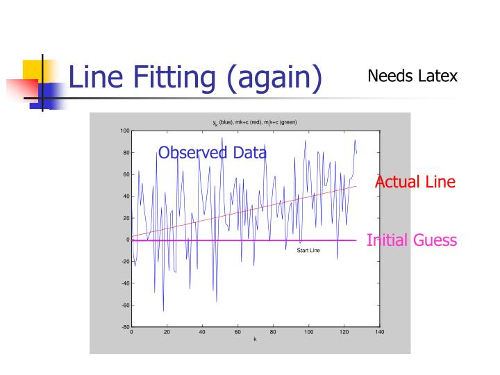 Line Fitting (again)