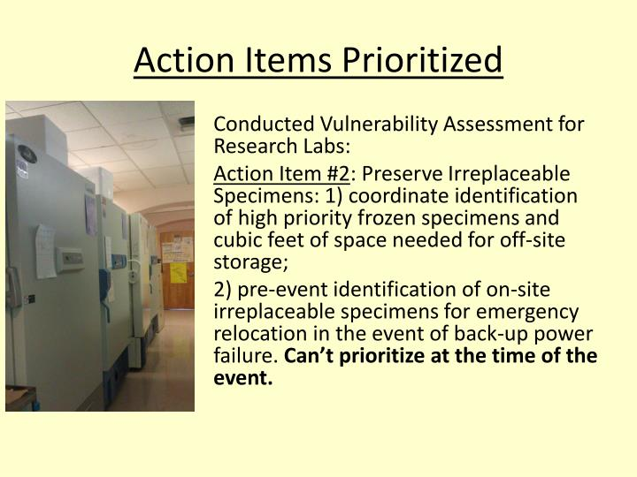Action Items Prioritized