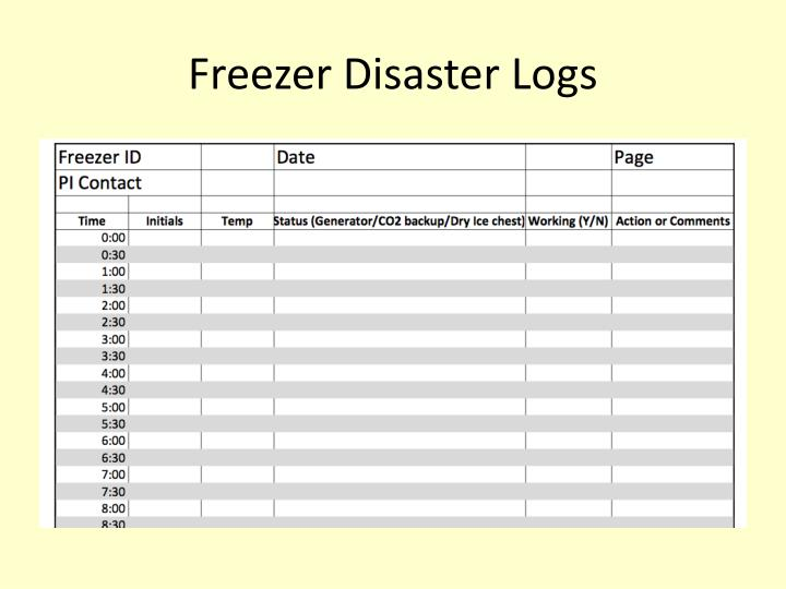 Freezer Disaster Logs