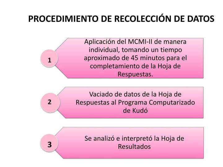PROCEDIMIENTO DE RECOLECCIÓN DE DATOS