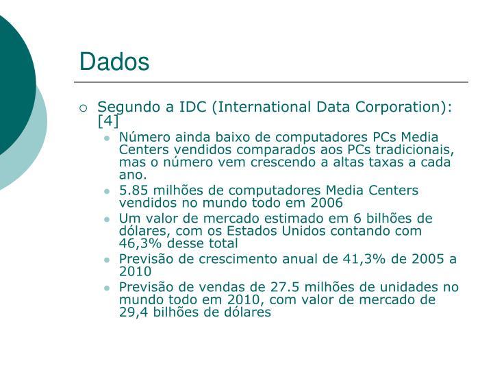 Segundo a IDC (International Data Corporation): [4]