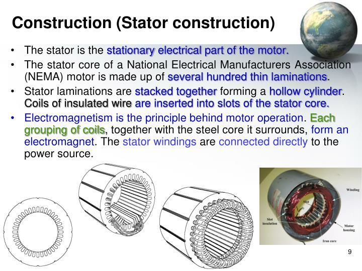 Construction (Stator construction)