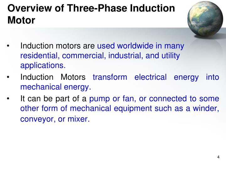Overview of Three-Phase Induction Motor