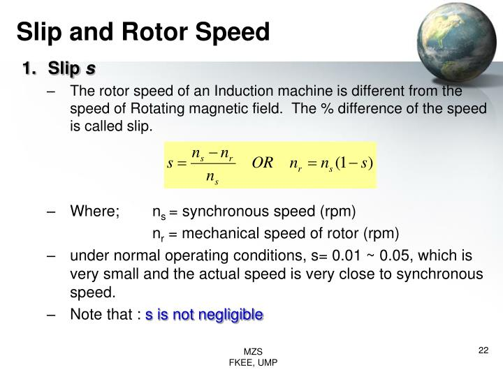 Slip and Rotor Speed