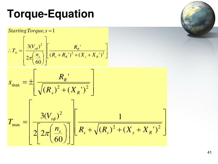 Torque-Equation