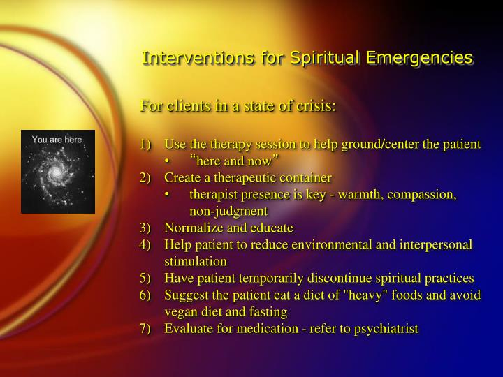 Interventions for Spiritual Emergencies