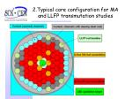 2 typical core configuration for ma and llfp transmutation studies