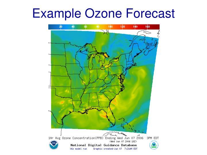 Example Ozone Forecast