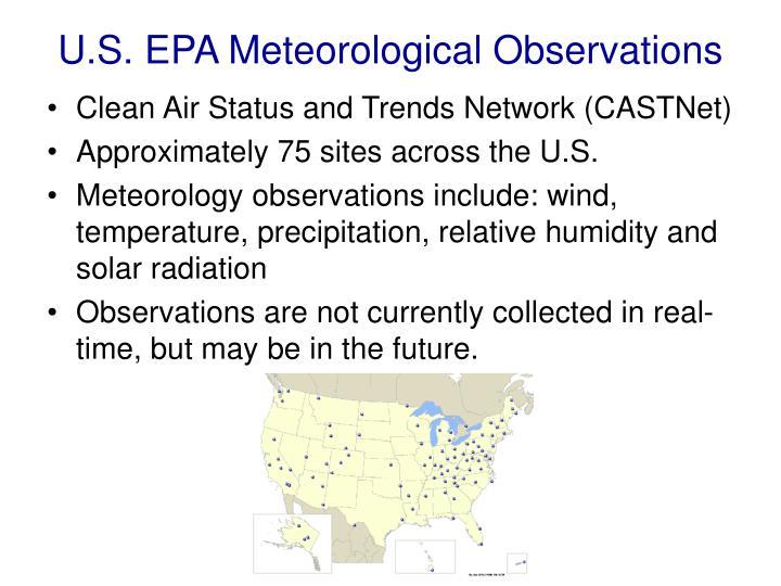 U.S. EPA Meteorological Observations