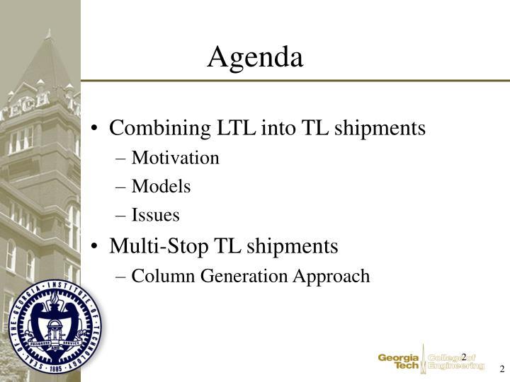 Combining LTL into TL shipments
