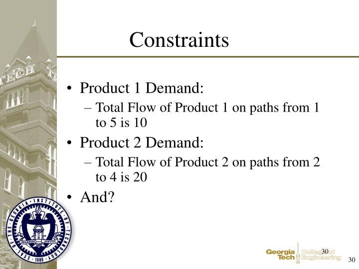Product 1 Demand: