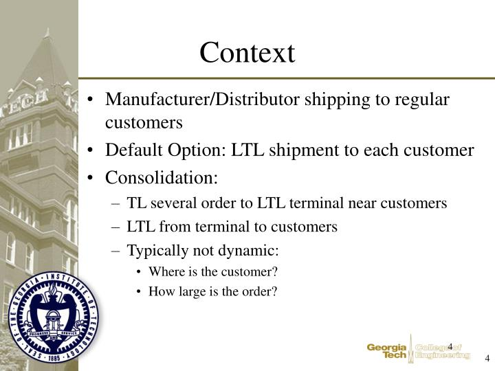 Manufacturer/Distributor shipping to regular customers