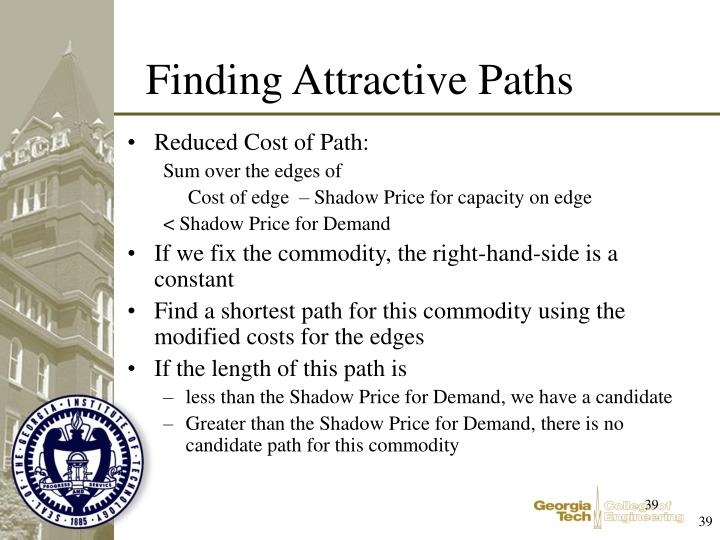 Reduced Cost of Path: