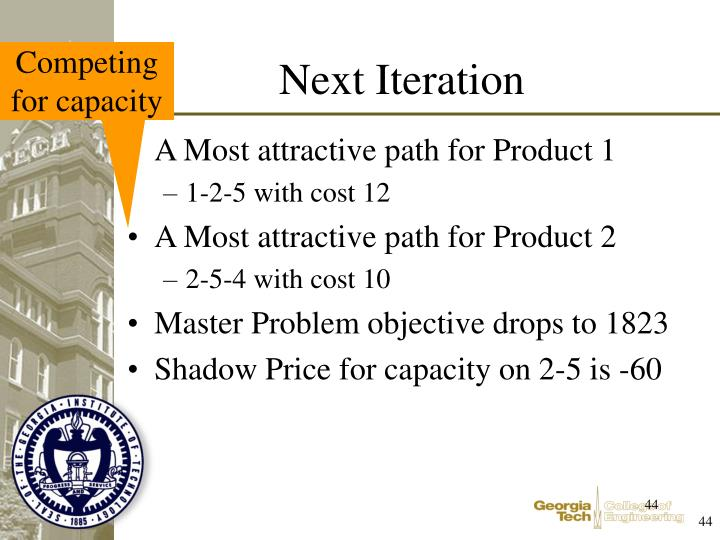 A Most attractive path for Product 1