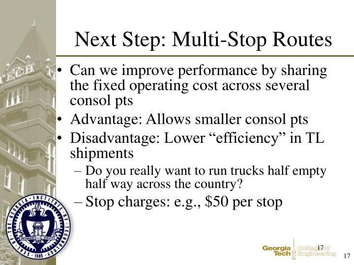 Can we improve performance by sharing the fixed operating cost across several consol pts