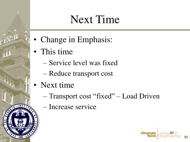 Change in Emphasis: