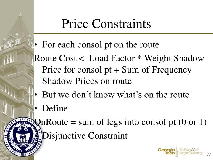 For each consol pt on the route