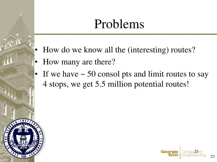 How do we know all the (interesting) routes?