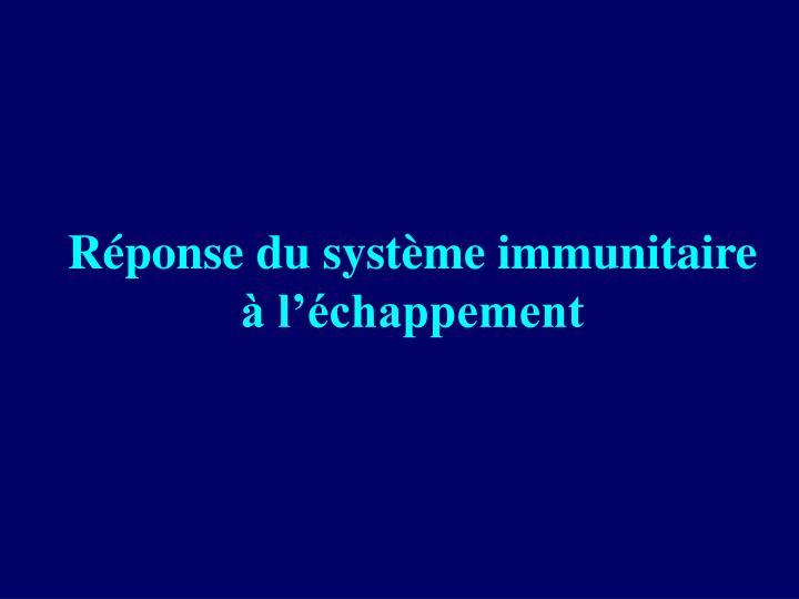 Réponse du système immunitaire