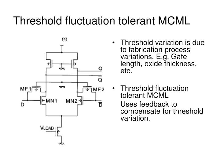Threshold fluctuation tolerant MCML