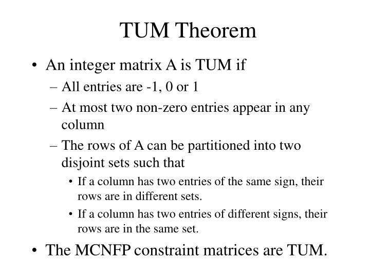 TUM Theorem