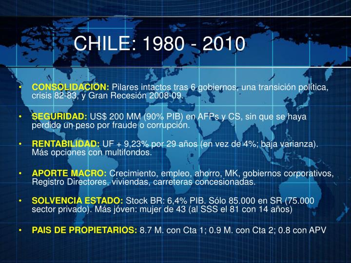 CHILE: 1980 - 2010