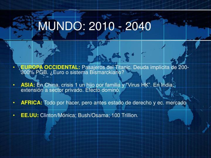 MUNDO: 2010 - 2040