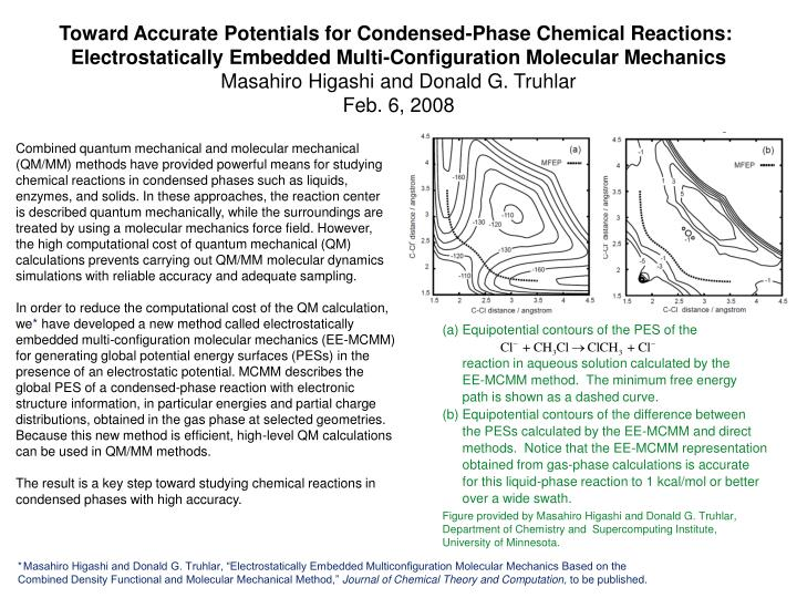 Equipotential contours of the PES of the