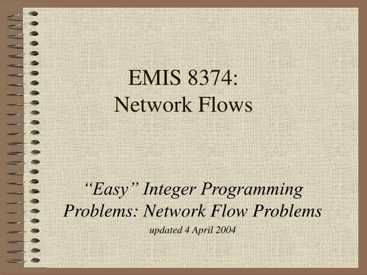 Emis 8374 network flows