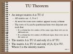 tu theorem