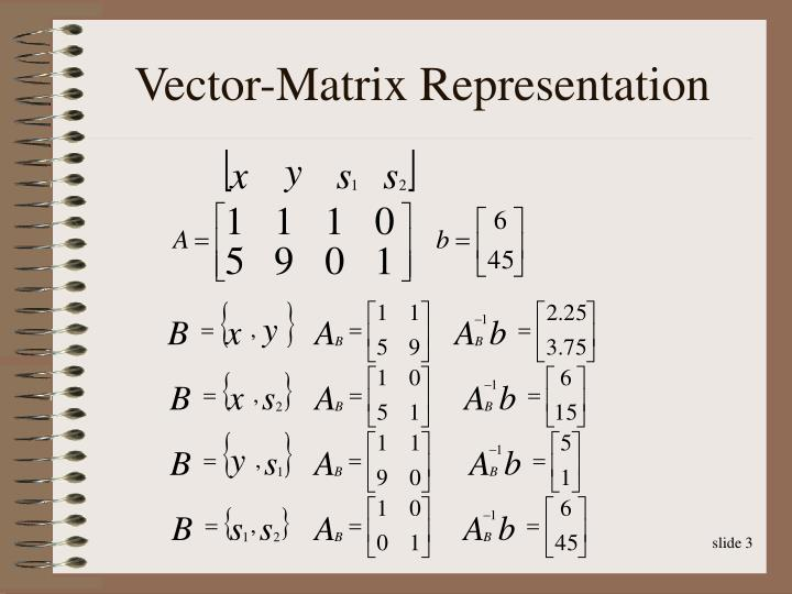 Vector-Matrix Representation