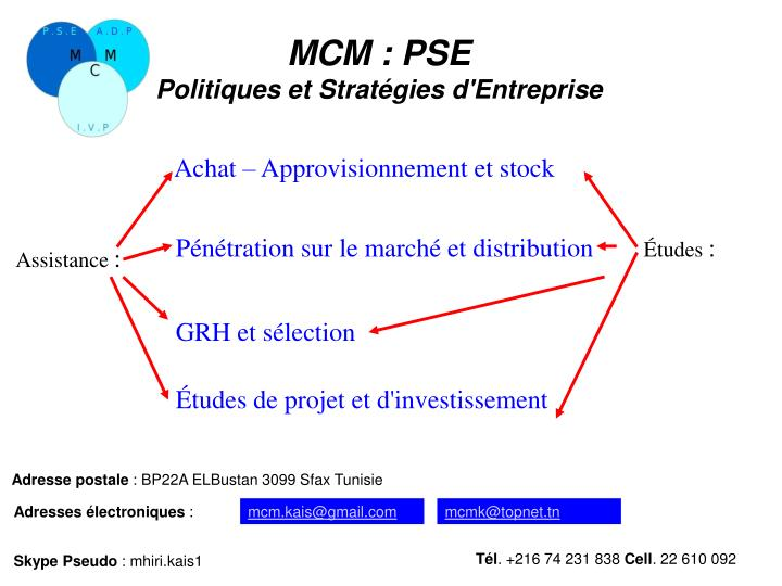 MCM: PSE
