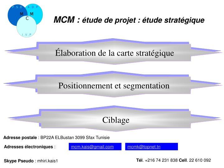 Élaboration de la carte stratégique