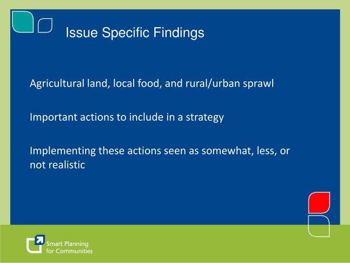 Issue Specific Findings