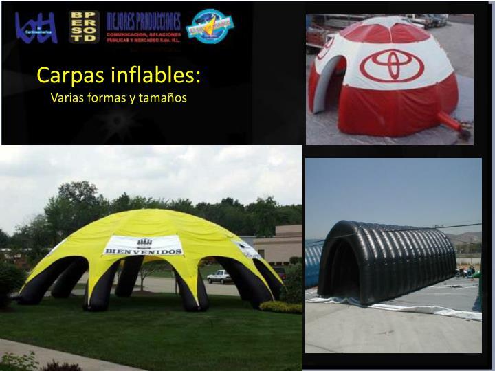 Carpas inflables: