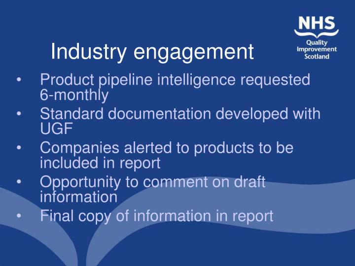 Industry engagement