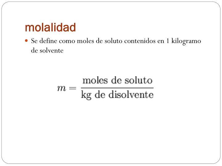 molalidad