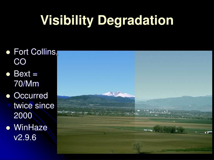 Visibility Degradation