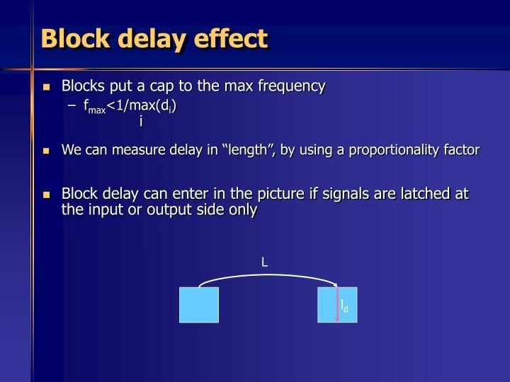 Block delay effect